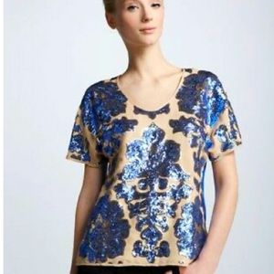 TRACY REESE NEIMAN MARCUS Sequin Blouse
